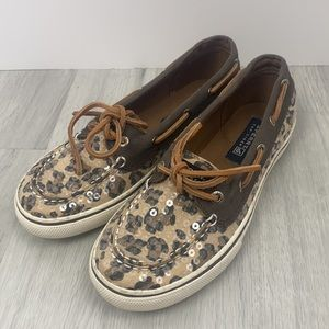 Sperry Top-Sider Bahama Boat Shoe Sequins Size 5